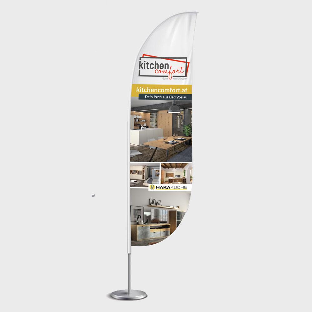 Beachflag – Kitchen Comfort, Bad Vöslau