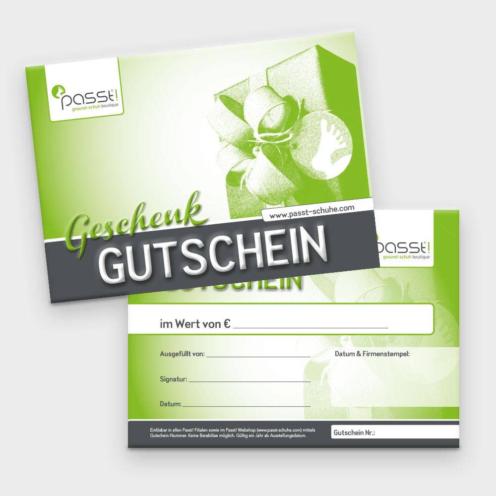 Gutschein – Passt! Schuhe, Bregenz