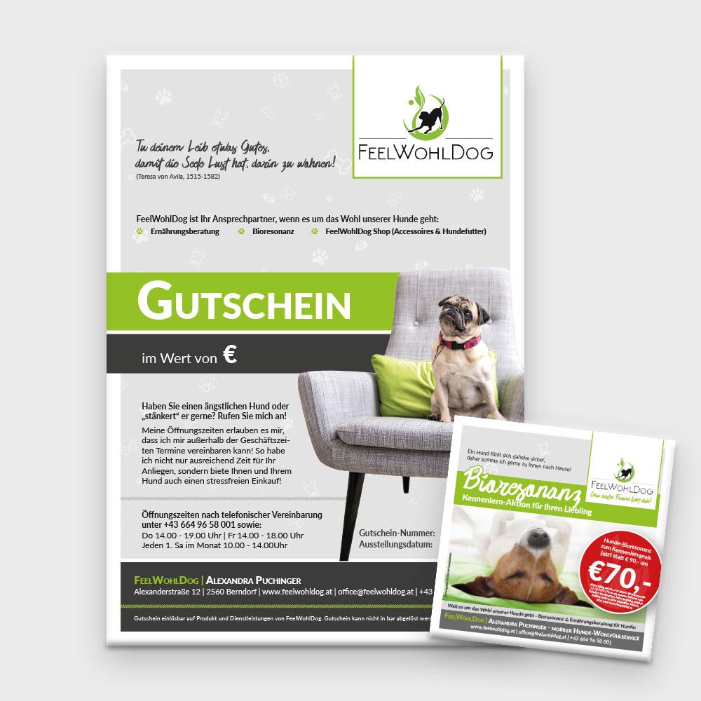 Gutscheine – Feelwohldog, Berndorf