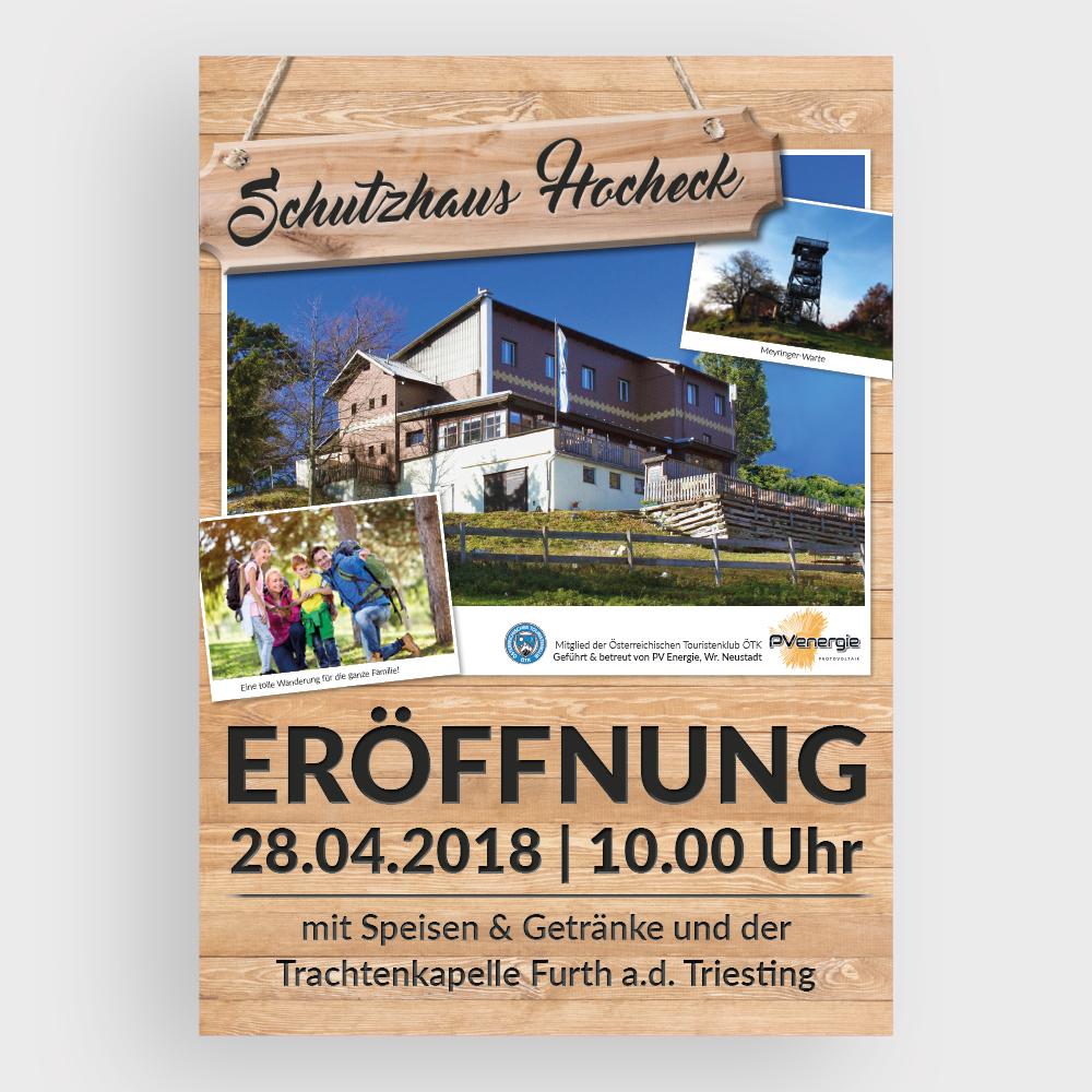 Plakat – Schutzhaus, Hocheck