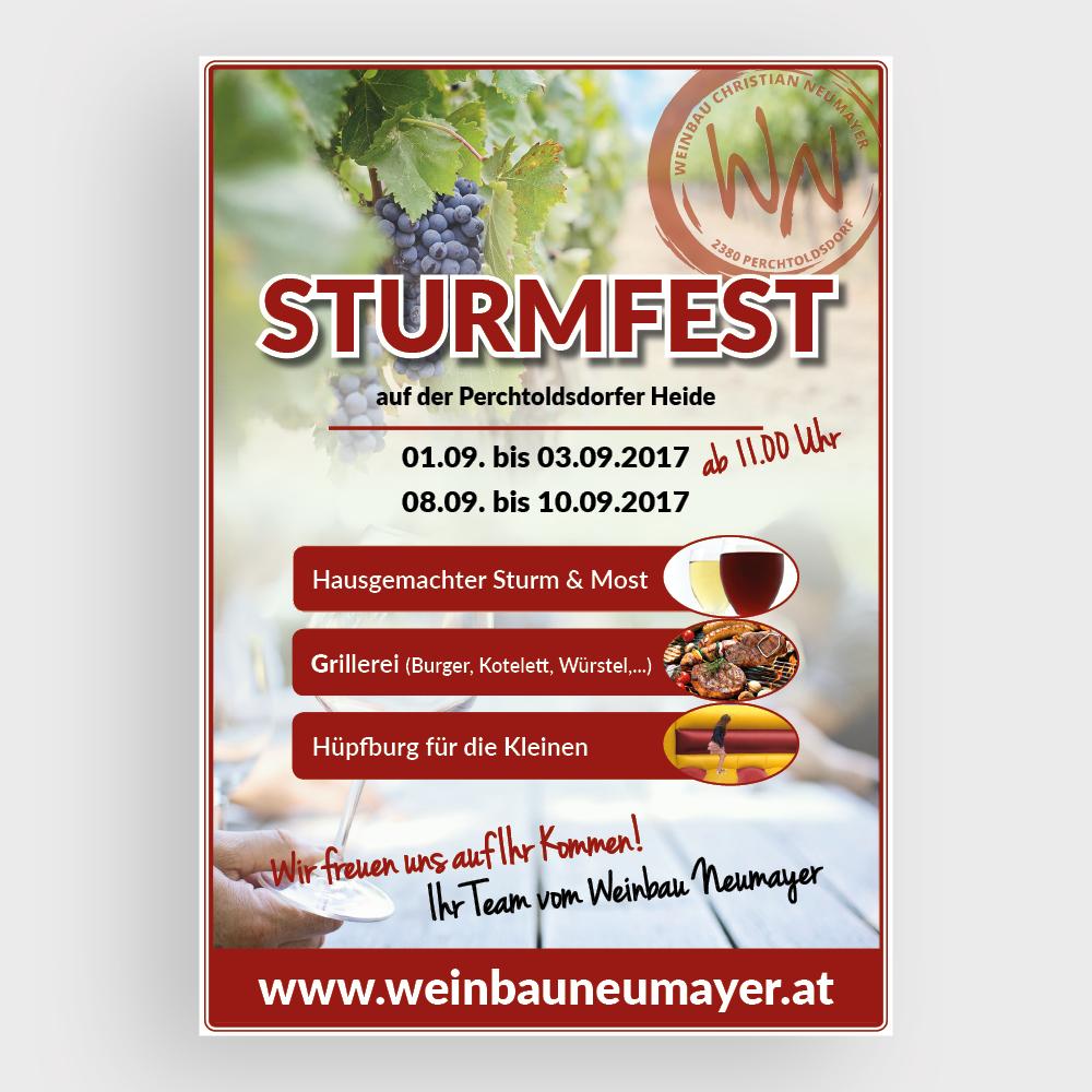 Plakat Sturmfest – Weinbau Neumayer – Perchtoldsdorf