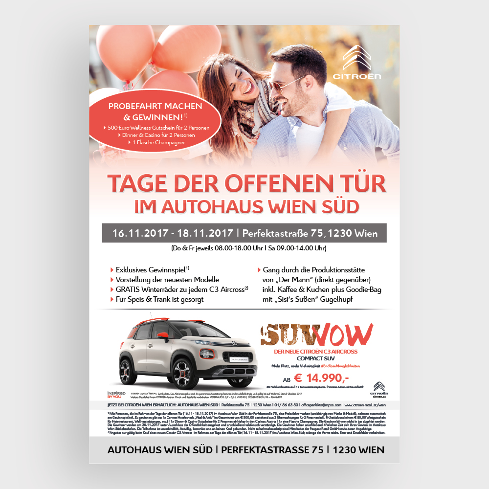 Plakat Autohaus Wien Süd – PSA Austria, Wien