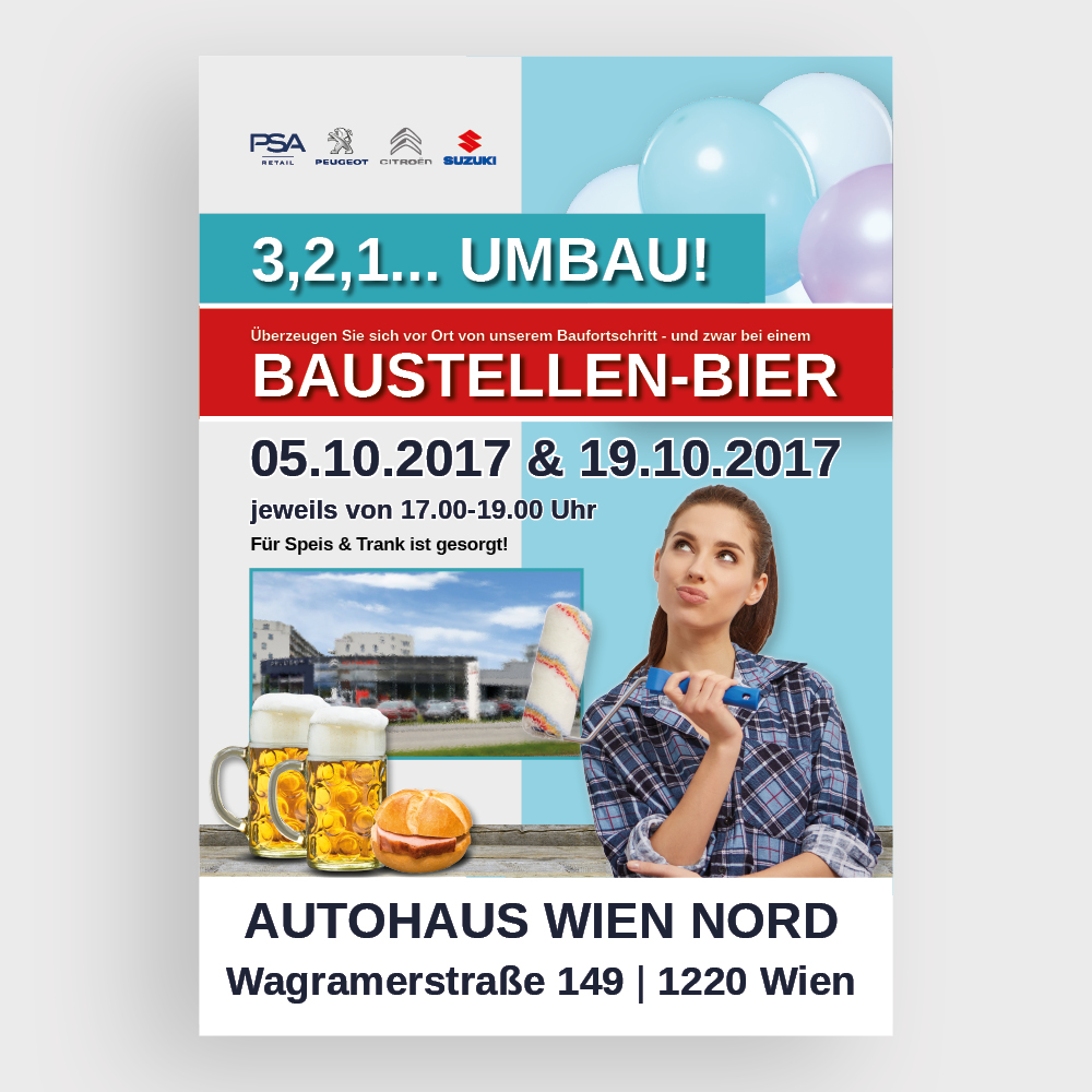 Plakat Autohaus Wien Nord – PSA Austria, Wien