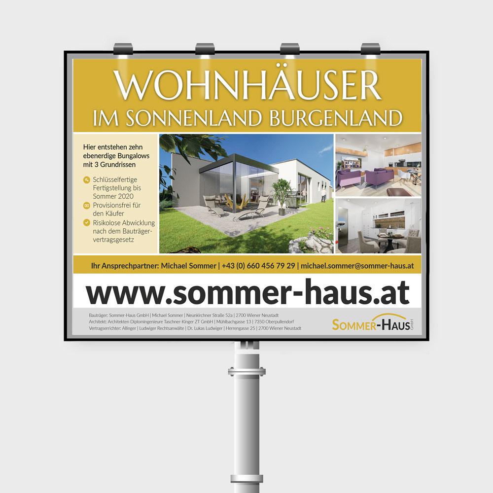 Bogenplakat – Sommer-Haus GmbH, Wr. Neustadt