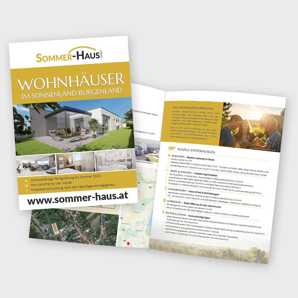 Folder Bauprojekt Stoob – Sommer-Haus GmbH, Wr. Neustadt
