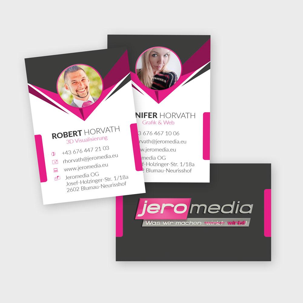 Visitenkarten – Jeromedia OG, Blumau-Neurisshof