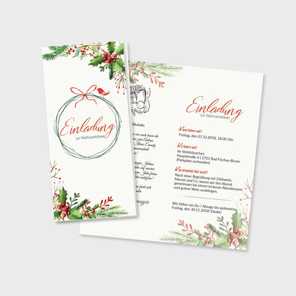 Einladung Weihnachtsfeier – Hoessl GmbH, Wr. Neustadt