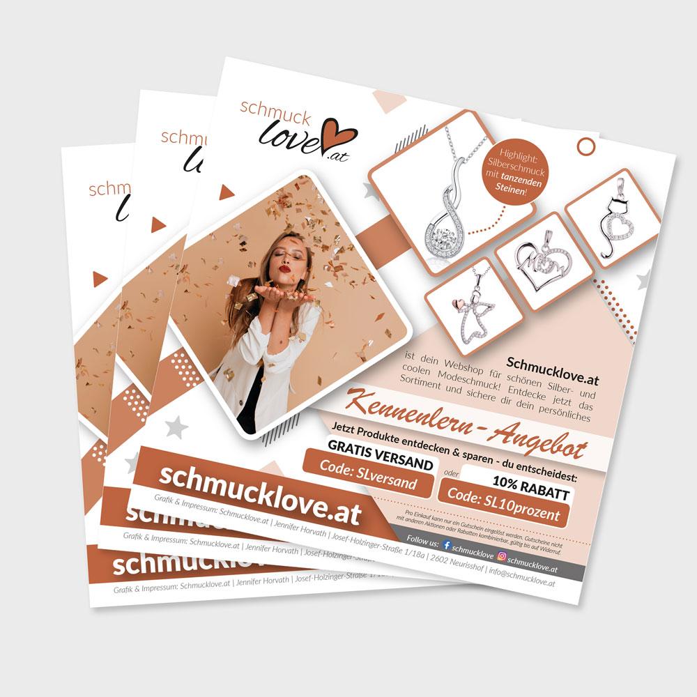 Flyer – Schmucklove.at, 2602 Blumau-Neurisshof