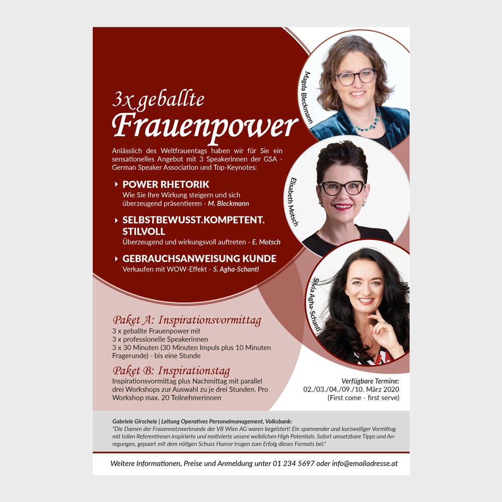 Flyer Frauenpower – Silvia Schantl